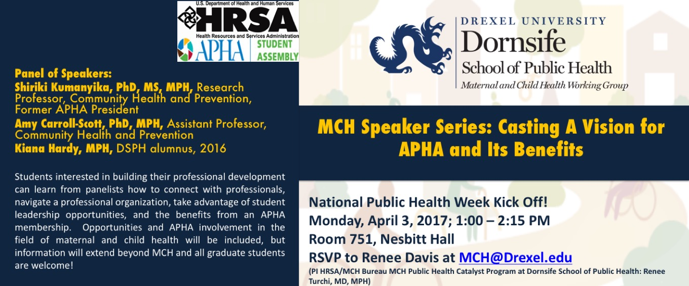MCH Speaker Series: Casting A Vision for APHA and Its