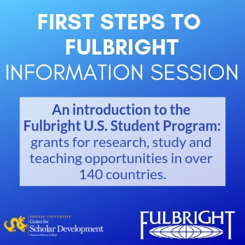 First Steps to Fulbright event image