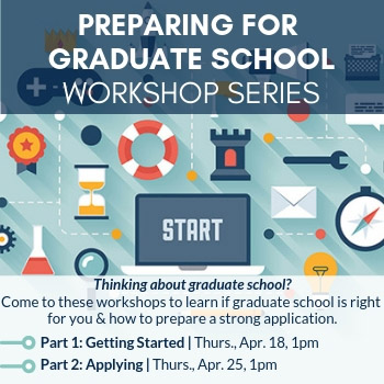 Preparing for Graduate School Workshop series image