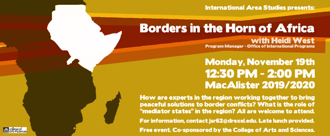 promo for Borders in the Horn of Africa