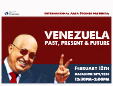 promotional mateial for Venezuela lecture