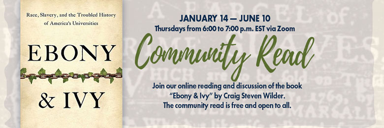 Join our community reading and discussion of the book