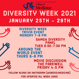 graphic of diversity week schedule