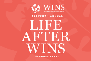 A light red background with the text 'Eleventh Annual Life After Wins Alumn