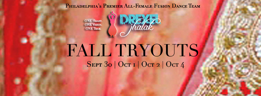 Drexel Jhalak Fall Tryouts Flyer
