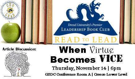 Read to Lead: When Virtue Becomes Vice