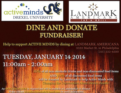 Dine and Donate and Landmark Americana