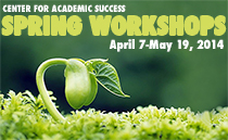 CAS Spring Workshops