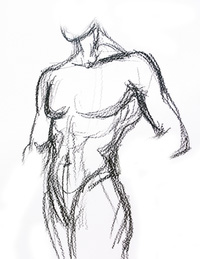 Sketch of the human body