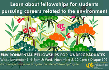 Environmental Fellowships for Undergraduates image