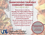Nov 2017 Thanksgiving Community Dinner