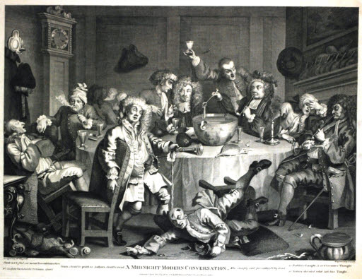 Hogarth's Midnight Modern Conversation