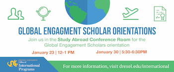 Global Engagement scholars Orientation