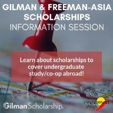 Gilman Scholarship and Freeman-ASIA Info Session image
