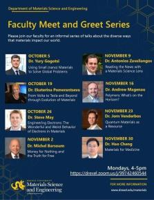 Materials Science and Engineering Faculty Meet and Greet Series image